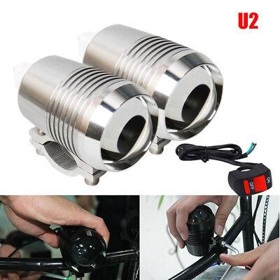2Pcs 30W U2 CREE Motorcycle Bike LED Driving Headlight Spot Fog Light w/ Switch