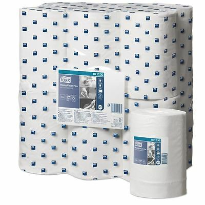 12 x Tork' Mini Wiping Paper Plus - Centrefeed Roll -  2 Ply White