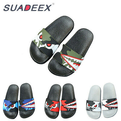 Girls Shoes (Boys Girls Summer Casual Slide Slippers Soft Kids Sandal Slip on Beach Shoes)