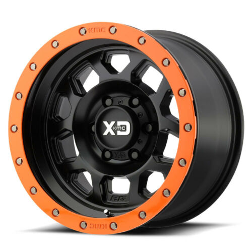 "(5) 18"" Xd Rg Black Orange Wheels Jeep Wrangler Jk 33"" Toyo At2 Tires Package"