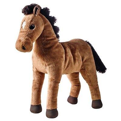 Ikea ÖKENLÖPARE Okenlopare Brown Horse Kids Soft Stuffed A