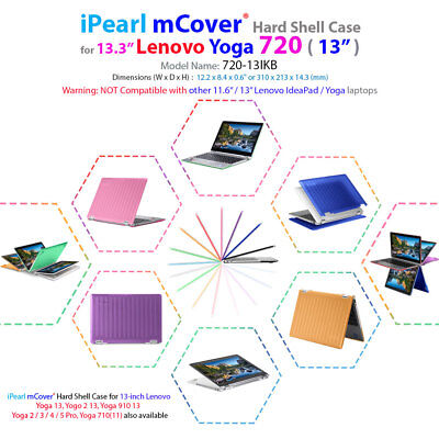 """NEW mCover® Hard Case for NEW 13.3"""" Lenovo Yoga 720 (13) 2-in-1 Ultrabook Laptop for sale  Shipping to India"""