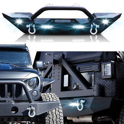 Front Rear Bumper Metal Upgrade Combo Fenders for Jeep Wrangler JK 07 to 2017 Metal Upgrade Combo
