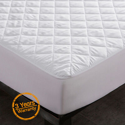 Quilted Mattress Covers - Waterproof Quilted Mattress Cover Pad Bed Bug Dust Mite Hypoallergenic Protector
