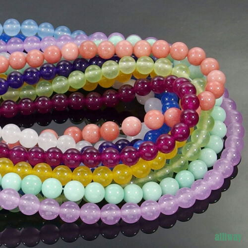 Multi Color Jade Gemstone Round Beads 15.5