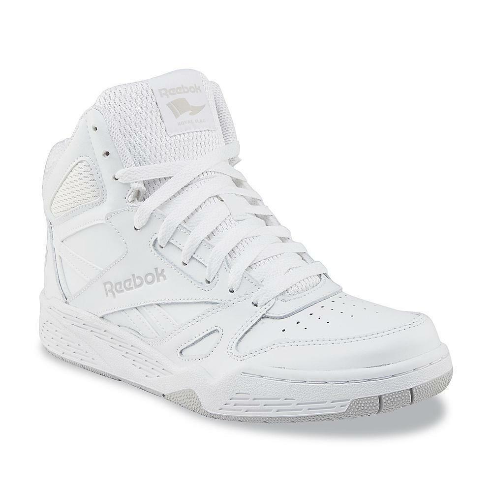 New Mens Reebok Royal BB4500 Extra Wide White High-Top Leath