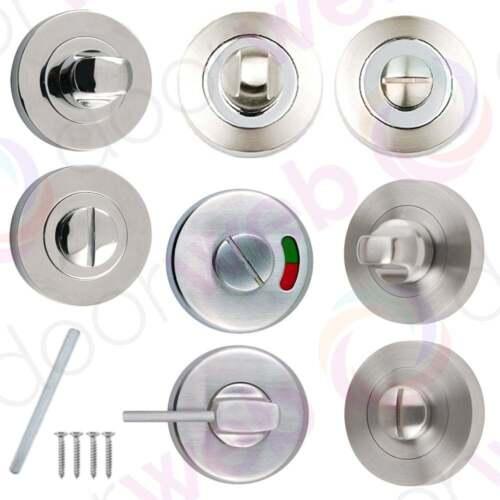 TURN & RELEASE Bathroom Locks Door Thumb Twist Sets Latch ...