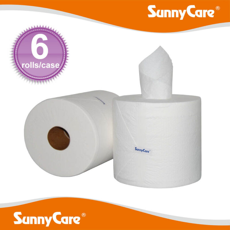 SunnyCare #5505 Center Pull Paper Towels 2-Ply 600sheets/roll ; 6 Rolls