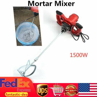 1500w Electric Mortar Mixer Paint Cement Grout Mix Stirring Machine 6 Speeds Us