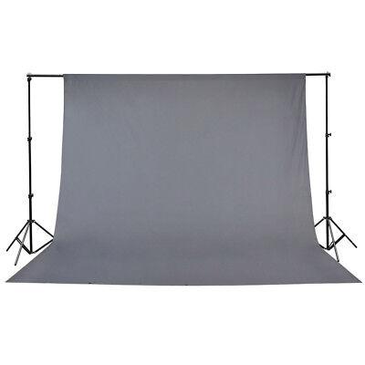 10x10ft 100% Cotton Muslin Backdrop Photography Background Photo Studio Gray