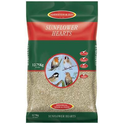 Johnston & Jeff Sunflower Hearts for wild birds sunflower heart kernels 12.75kg