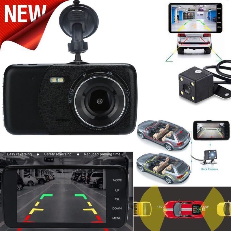 4'' LCD 1080p Dual Lens Car GPS Dash Cam FHD Dashboard C