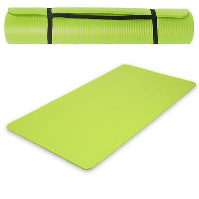 Yogamatte Gymnastikmatte Boden Fitness Sport Turnmatte Matte grün180x60x1,5cm