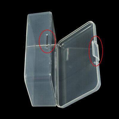 Rectangular Caja Almacenaje Plástico Transparente Contenedor Organizador Joya