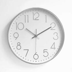 FlorLife Wall Clocks, 12 Simple Round Glass Analog Living Room with Big Number