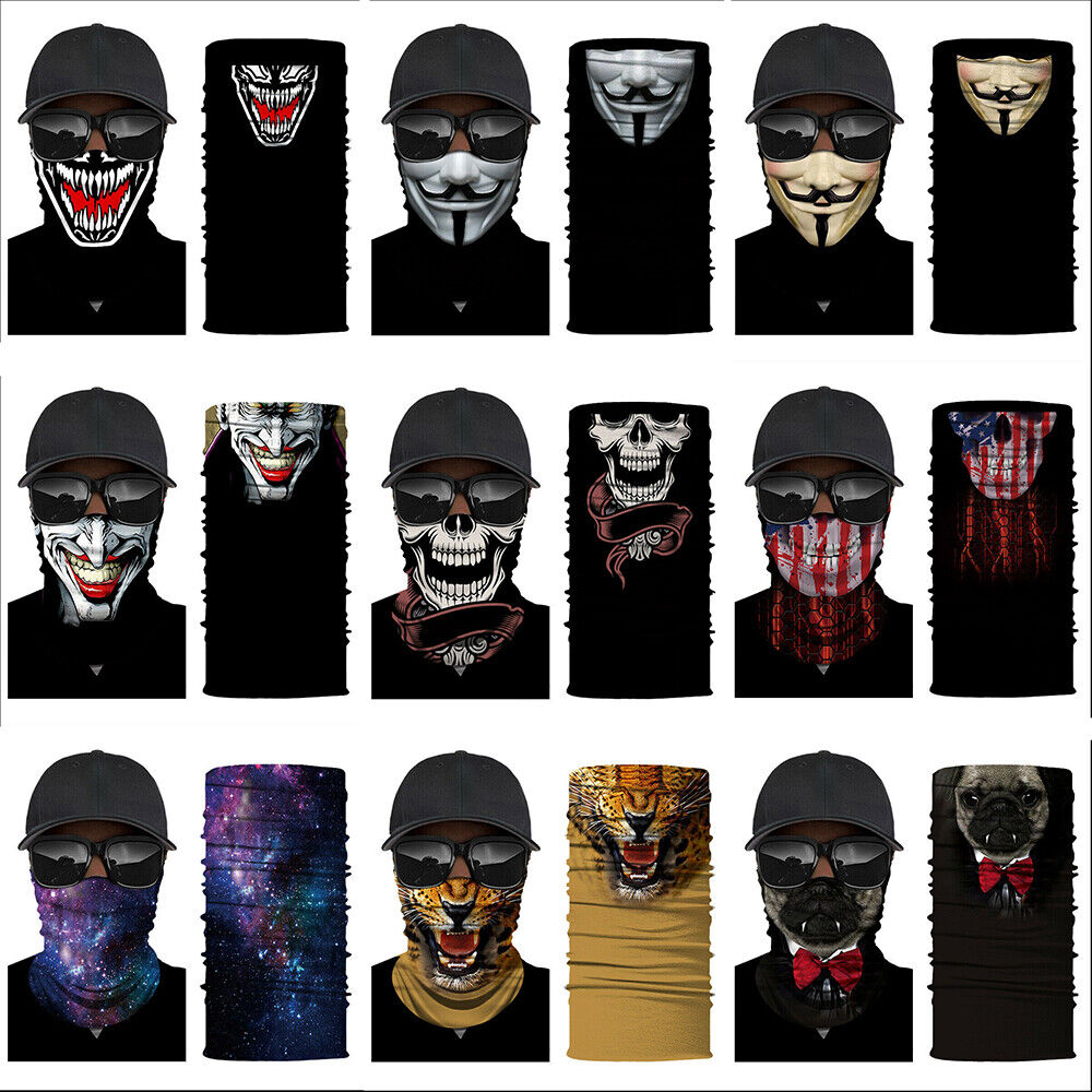 Balaclava Scarf Neck Gaiter Bandana Face Mask Cover for Motorcycle Bike Rider Clothing, Shoes & Accessories