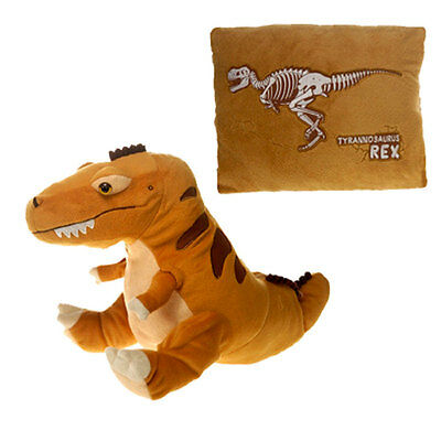 Peek-a-Boo 18'' Brown T-REX Dinosaur Plush & Pillow Stuffed Animal by Fiesta NEW