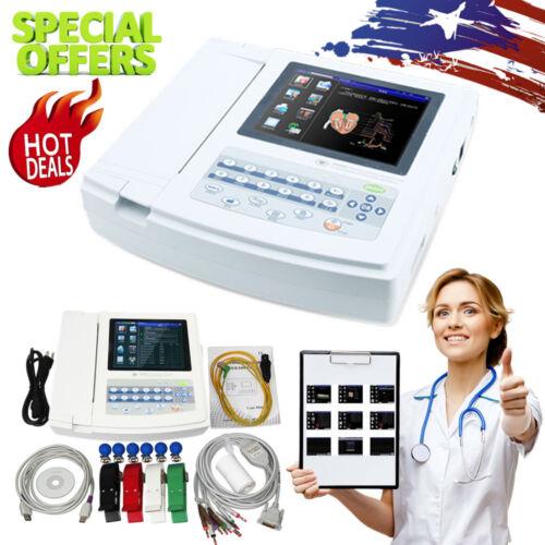 CONTEC 12 Lead Electrocardiograph 12 Channel ECG EKG Machine+PC Software, CE FDA