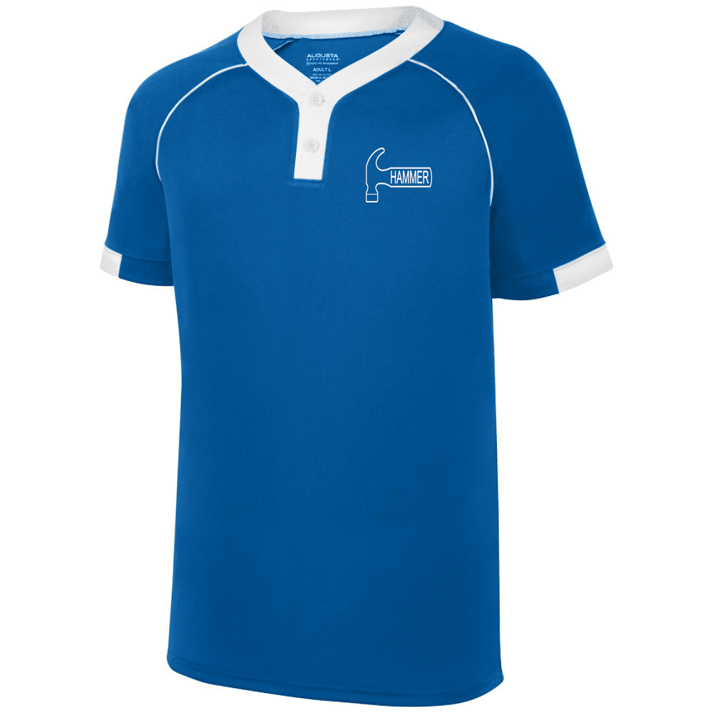 Hammer Men's Plague Performance Jersey Bowling Shirt Dri-fit Royal