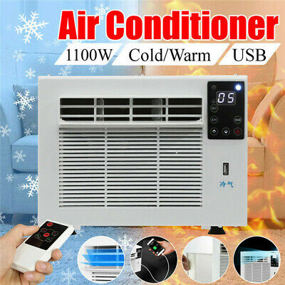 1100W Window Wall Box Air Conditioner Refrigerated Cooling Heating Remote Timer