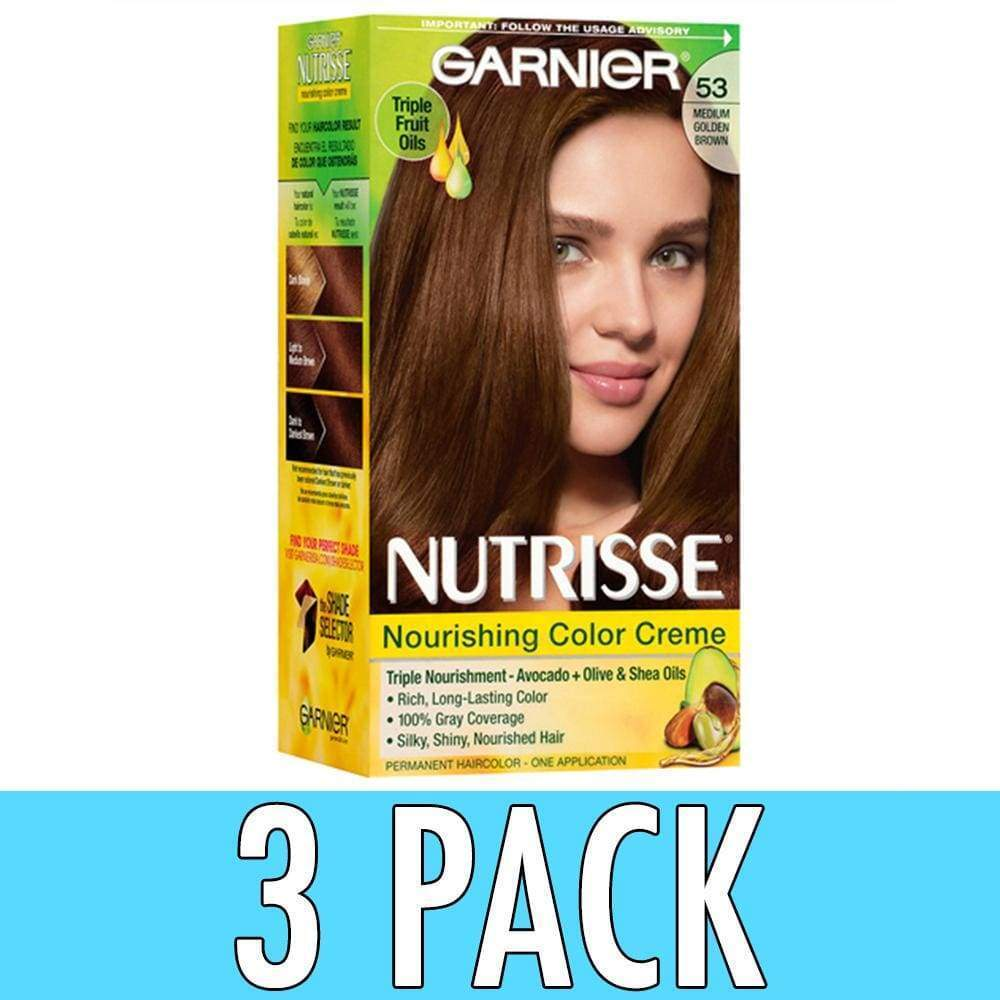 Garnier Nutrisse Creme Kit 53 Medium Golden Brown 603084242696a588