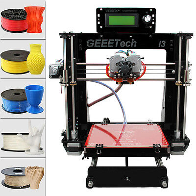 3D Printer Geeetech Reprap Prusa  i3 Pro C  MK2A Heatbed MK8 Dual Extruder DIY