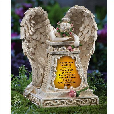 Garden Memorial Statue Decoration Outdoor Solar Lighted Angel Figurine Ornaments ()