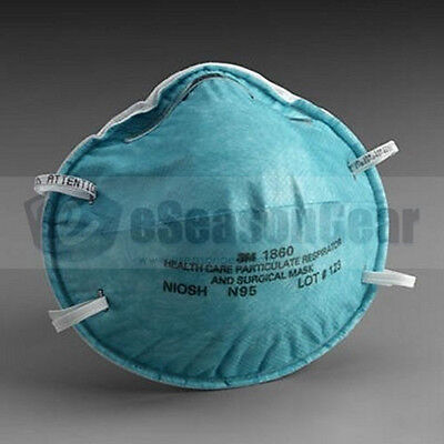 Pollen Dust PM2.5 Mask, 3M 1860 Standard Size N95 10/PK, Health Care Respirator, used for sale  Atlanta