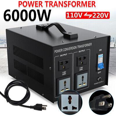 6000W Watt Step Up Down Electric Power Voltage Converter Transformer Heavy Duty