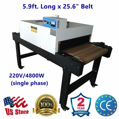 Small T-shirt Conveyor Tunnel Dryer 5.9ft.x25.6 Belt Screen Printing 220v 4800w