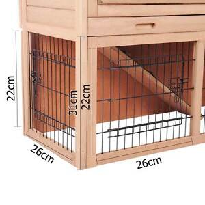 Rabbit Hutch Chicken Coop Cage Guinea Pig Ferret House w/ 2 Store Baulkham Hills The Hills District Preview