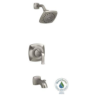 KOHLER Rubicon 1-Handle Wall-Mount Tub and Shower Faucet in Brushed Nickel