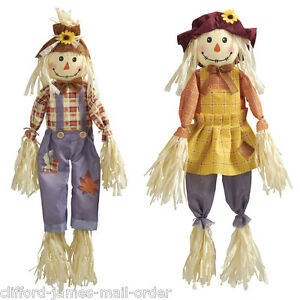 Twin Pack of 6ft Scarecrows Deter Birds & Pests From Your Garden Lawn Allotment