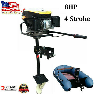 Heavy Duty 8.0hp 4 Stroke Outboard Motor Boat Engine With Air Cooling System