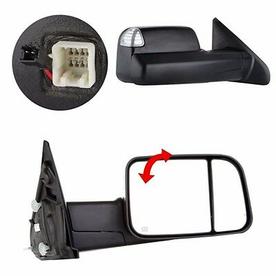Telescoping Tow Mirror (L/R Power Heated Telescoping Tow Mirror For 98-01 Dodge Ram 1500/98-02 2500)