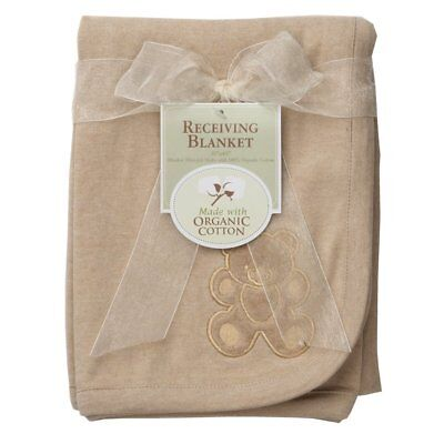 (TL Care Embroidered Receiving Blanket Mocha, Free US Shipping!  SALE!!!)