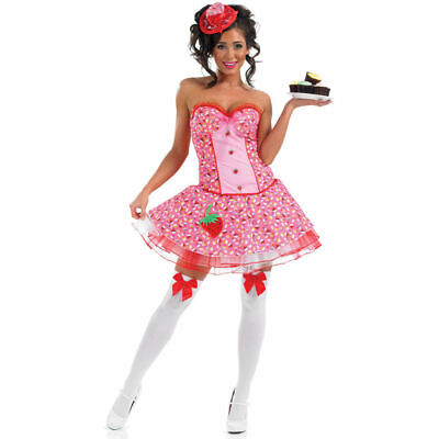 Miss Cupcake Costume - Adult Womens Katy Perry Fancy Dress