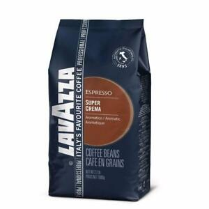 New, Lavazza Super Crema Whole Bean Espresso Coffee, 2.2lb Bag