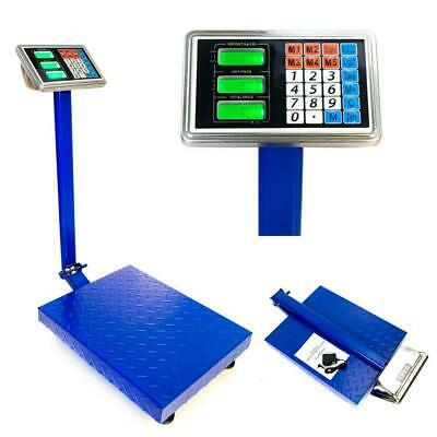 660lbs Lcd Digital Shipping Postal Scale Floor Steel Platform Weight 300kg100g