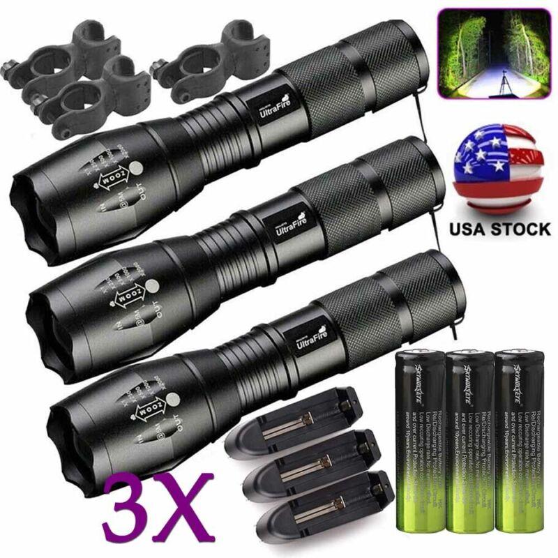 3X Ultrafire Tactical 186*50 Flashlight T6 High Power 5-Mode