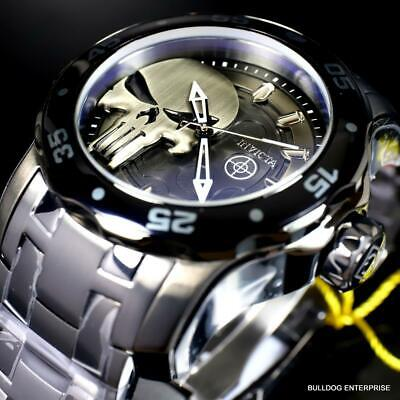 Invicta Marvel Punisher Pro Diver Scuba Stainless Steel 48mm Limited Watch New