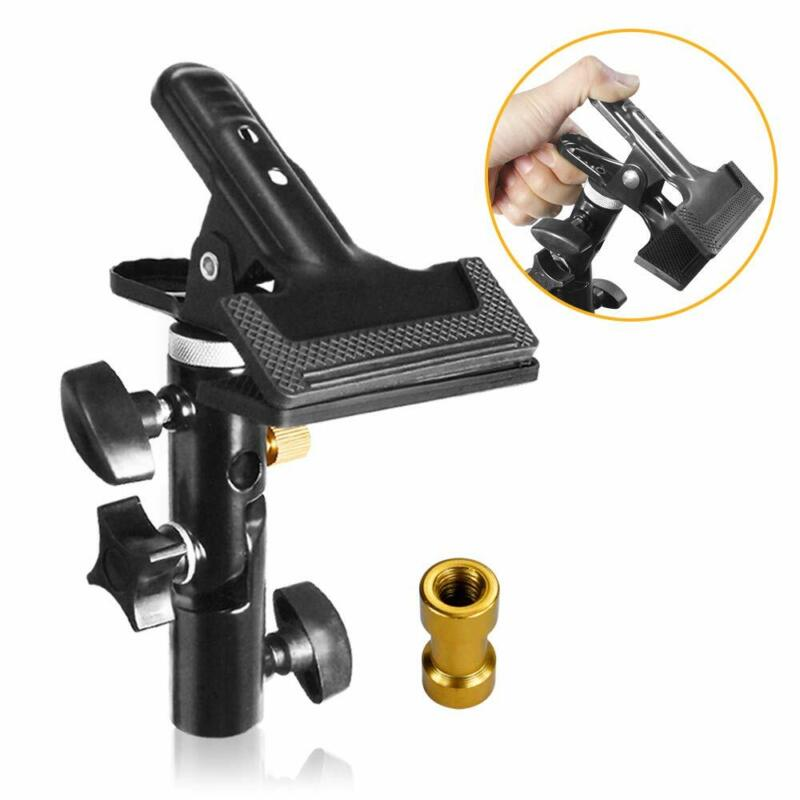 """Studio Clamp Holder with 5/8"""" Light Stand Attachment for Backdrops, Reflector"""