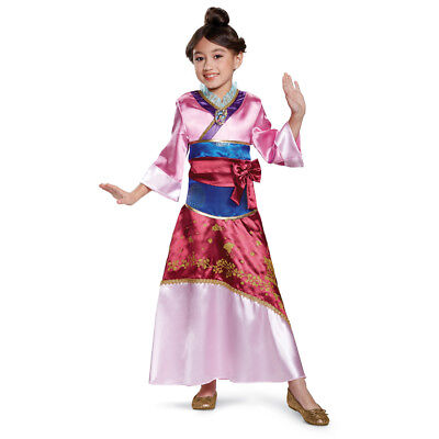 Girls Deluxe Mulan Disney Princess Halloween Costume - Princess Halloween Costumes Teenage Girl