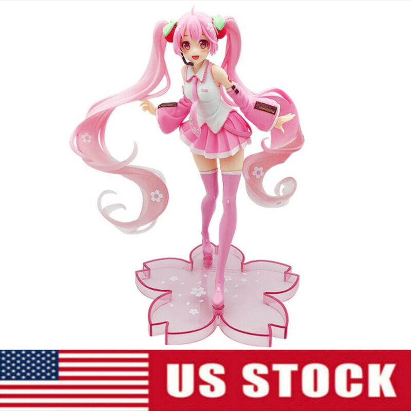 Hatsune Miku Sakura Miku Anime Action Figure Collection Doll Xmas Gift Kids Toy