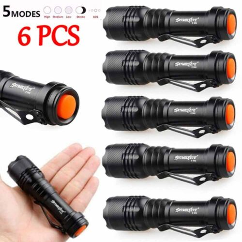 6X 5000LM Q5 AA/14500 Zoombare LED Superhellen Focus Ta… |