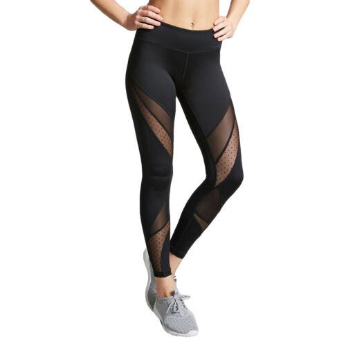 Dame Frauen Sexy Netz Nähte Yoga Hose Sport Fitness laufen enge Leggings