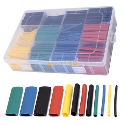 530pcs 5 Color 8 Size 21heat Shrink Tube Tubing Sleeving Wrap Wire Assorted Kit