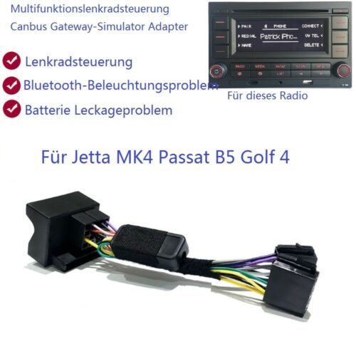 RCN210 Multifunktionslenkrad Simulator Canbus Adapter Für VW Golf4 MK4 POLO B5