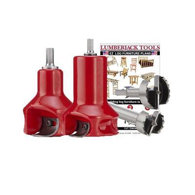 - Starter Kit Log Furniture Building Tool Tenon Cutter Forstner Bit Bed Railing