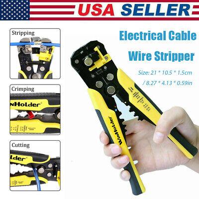 Professional Self Adjusting Automatic Wire Striper Cutter Crimper Terminal Plier